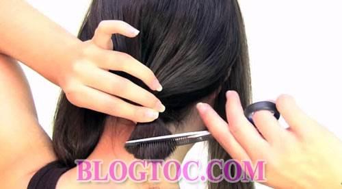 Hướng dẫn cách cắt tóc bob chữ A thời thượng tại nhà đẹp như cắt ngoài salon 8