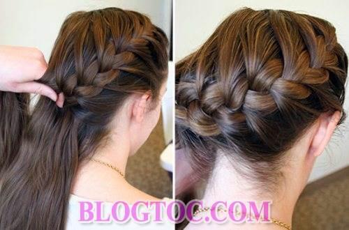 Hướng dẫn tết tóc lệch tết tóc cổ điển và tết tóc bông hoa đẹp cho những cô nàng làm việc nơi công sở 1