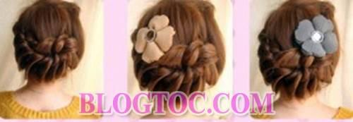 Hướng dẫn tết tóc lệch tết tóc cổ điển và tết tóc bông hoa đẹp cho những cô nàng làm việc nơi công sở 2