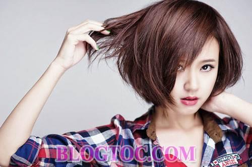 Những kiểu tóc ngắn cá tính và kiểu tóc dài dễ thương cho những bạn gái sở hữu khuôn mặt dài 4