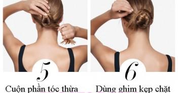 Hướng dẫn cách búi tóc đẹp đơn giản tại nhà cho các nàng tóc dài 3