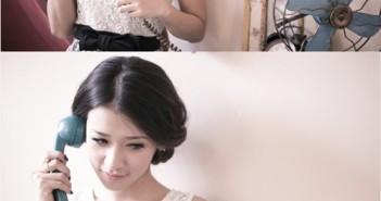 Hướng dẫn cách tạo kiểu tóc búi 2 bên và kiểu tóc vặn xoăn 2 bên cho cô nàng tóc xoăn 8