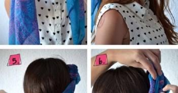 Hướng dẫn tạo kiểu tóc đẹp với khăn thắt turban đơn giản và độc đáo tại nhà 1