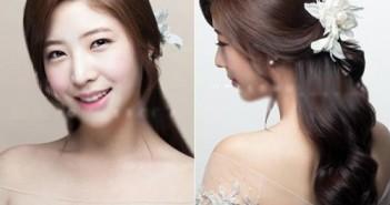 Những kiểu tóc cô dâu hàn quốc đẹp quyến rũ cho bạn lựa chọn trong ngày cưới 9