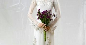 Những kiểu tóc đẹp phù hợp với áo dài chụp hình cưới cho các bạn tham khảo 3
