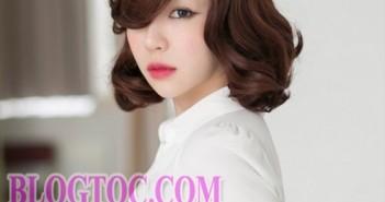 Tóc ngắn Hàn Quốc uốn xoăn nhẹ đẹp cho cô nàng thể hiện cá tính mùa thu đông 2015-2016 10