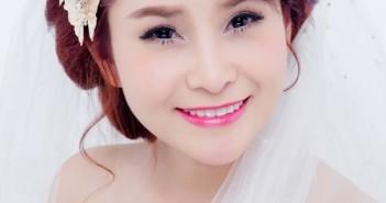 Kiểu tóc cô dâu cực đẹp khi kết hợp với cách trang điểm hài hòa tạo nên xu hướng làm đẹp cô dâu mới 2015 6