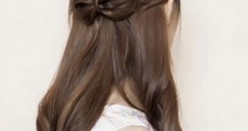 Hướng dẫn cách tạo kiểu tóc buộc nơ nữa đầu cho ngày thu thêm quyến rũ 3
