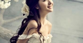 Kiểu tóc cô dâu đẹp cho nàng mặt tròn đang thịnh hành nhất hiện nay 2