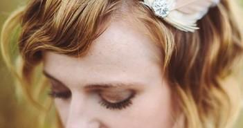 Kiểu tóc cô dâu đẹp với phong cách cổ điển cho những nàng tóc ngắn 6