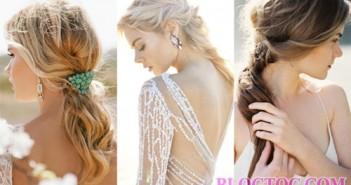 Kiểu tóc cô dâu đẹp với tóc buộc đuôi ngựa đẹp nhẹ nhành mà tinh tế 7