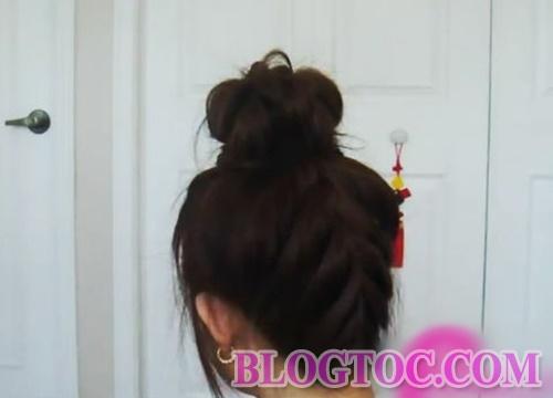 Hướng dẫn tết tóc búi cao kiểu pháp đẹp trẻ trung xinh xắn cho bạn gái đi chơi 6