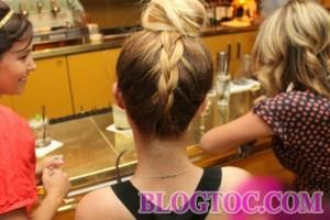 Hướng dẫn tết tóc búi cao kiểu pháp đẹp trẻ trung xinh xắn cho bạn gái đi chơi 8