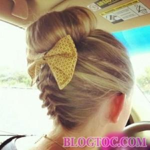 Hướng dẫn tết tóc búi cao kiểu pháp đẹp trẻ trung xinh xắn cho bạn gái đi chơi 9