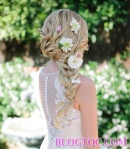 Những kiểu tóc tết cô dâu đẹp sang trọng quý phái bạn gái nên tham khảo để làm đẹp trong ngày cưới 4